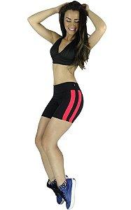 Short Curto Duas Faixas Suplex Fitness