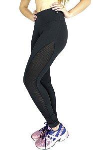 Calça Legging Suplex De Telinha Fitness