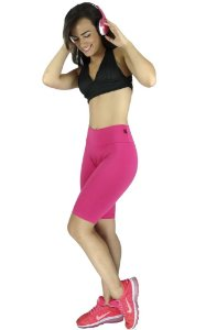 Bermuda Lisa Cós Alto Suplex Fitness
