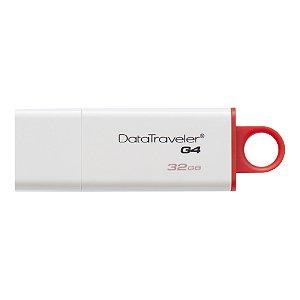Pendrive Kingston DataTraveler G4 USB 3.0 32GB Vermelho