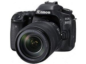 Câmera Canon EOS 80D com Lente 18-135mm IS USM