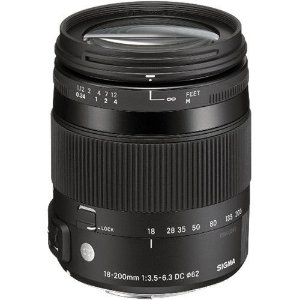 Lente Sigma DC 18-200mm f/3.5-6.3 para Canon