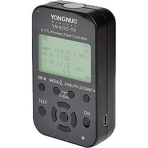 Controlador Yongnuo e-TTL com 1 unidade modelo YN-622C-TX para Canon