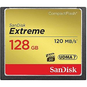 Cartão de Memória SanDisk Compact Flash CF Extreme 120Mb/s 128GB