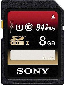 Cartão de Memória SD Sony SDHC UHS-I Classe 10 94Mb/s 8Gb