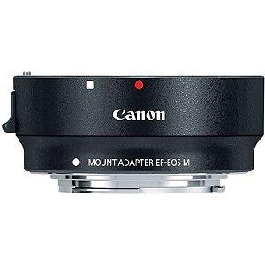 Adaptador de Lentes Canon EF e EF-S para Câmeras Canon M com encaixe EF-M