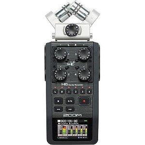 Gravador Digital Profissional Zoom H6 incluso Cartão de Memória 2Gb