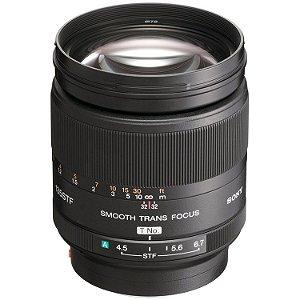 Lente Sony SAL 135mm f/2.8 STF com Adaptador LA-EA1
