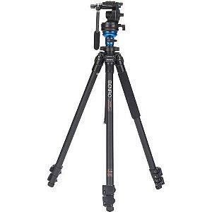Tripé de Alumínio Benro Kit Pro-S para Câmeras de Vídeo modelo A1573FS2