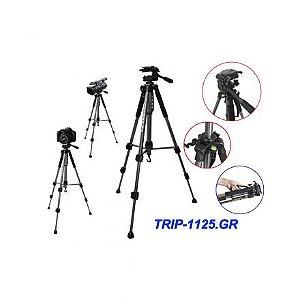 Tripé Powerpack Trip-1125.GR Altura 155CM/1.8KG