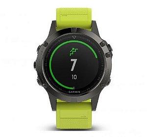 Relógio Garmin GPS Fenix 5 Cinza/Amarelo
