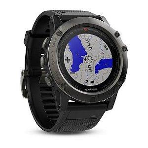 Relógio Garmin GPS Fenix 5X Sapphire Cinza