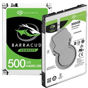 HD Interno Seagate BarraCuda para Notebook SATA 6 Gb/s ST500LM030 500Gb