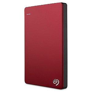 HD Externo Seagate Backup Plus Slim 1TB compatível com MAC Vermelho