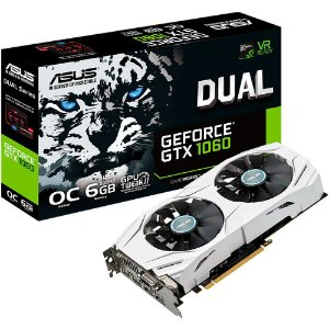 Placa de Vídeo VGA NVIDIA ASUS GeForce GTX 1060 DUAL OC 6Gb GDDR5