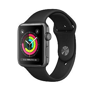 Apple Watch Series 3 42mm Alumínio Cinza Espacial Pulseira Esportiva Preta