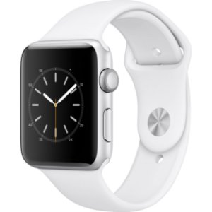 Apple Watch Series 2 42mm Alumínio Prateado Pulseira Esportiva Branca