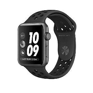 Apple Watch Series 2 Nike+ 42mm Alumínio Cinza Espacial Pulseira Esportiva Preta