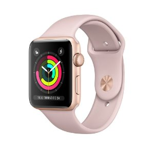 Apple Watch Series 3 42mm Alumínio Dourado Pulseira Esportiva Areia Rosa