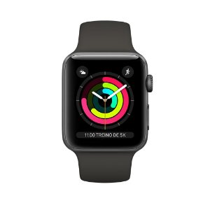 Apple Watch Series 3 38mm Alumínio Cinza Espacial Pulseira Esportiva Cinza Espacial