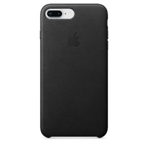 Capa de Couro para iPhone 7 Plus e 8 Plus Preta