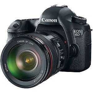 Câmera Canon EOS 6D com Lente EF 24-105mm f/4L IS USM