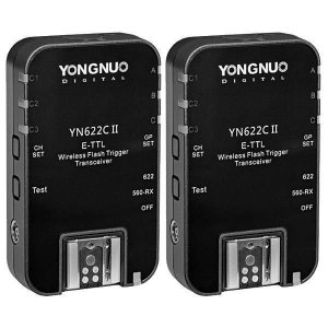 Radio Flash Yongnuo e-TTL com 2 unidades modelo YN-622C II para Canon