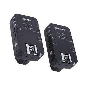 Radio Flash Yongnuo i-TTL com 2 unidades modelo YN-622N II para Nikon