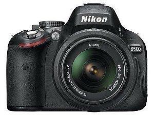 Câmera Nikon DX D5100 com Lente AF-S DX 18-55mm f/3.5-5.6G VR
