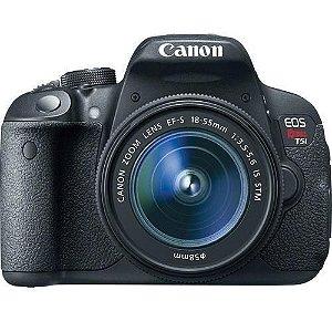 Câmera Canon EOS Rebel t5i com Lente 18-55mm STM