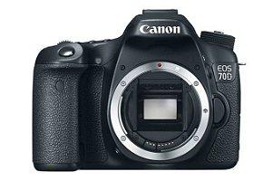Câmera Canon EOS 70D com Wi-Fi somente corpo