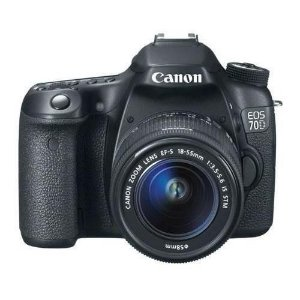 Câmera Canon EOS 70D com Wi-Fi com Lente EF-S 18-55mm f/3.5-5.6 IS STM