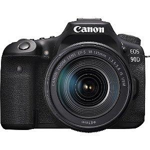 Câmera Canon EOS 90D com Lente EF-S 18-135mm f/3.5-5.6 IS USM