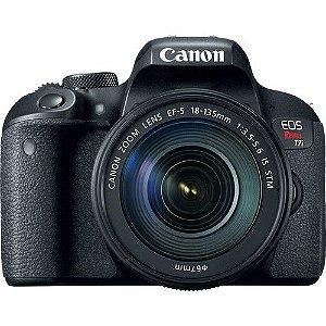 Câmera Canon EOS Rebel T7i com Lente EF-S 18-135mm f/3.5-5.6 IS STM