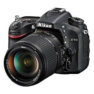 Câmera Nikon DX D7100 com Lente AF-S DX 18-140mm f/3.5-5.6G ED VR