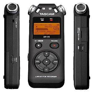 Gravador Digital Profissional Tascam DR-05 incluso Cartão de Memória 4Gb