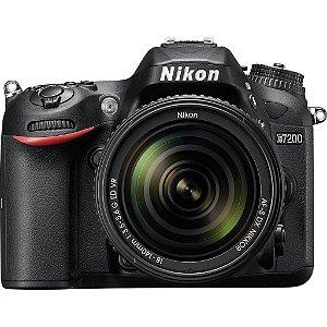 Câmera Nikon DX D7200 com Lente AF-S DX 18-140mm f/3.5-5.6G ED VR