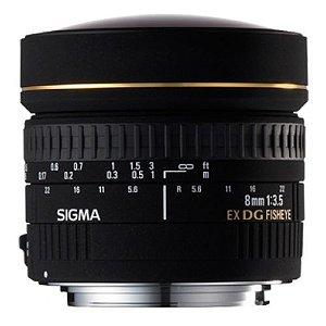 Lente Sigma DG 8mm f/3.5 CIRCULAR-FISHEYE para Canon