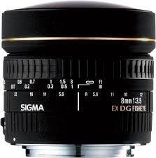Lente Sigma DG 8mm f/3.5 CIRCULAR-FISHEYE para Nikon