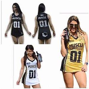 EXCLUSIVIDADE - Vestido modelo basqueteira MUSCLE FORMULA - consulte tamanho