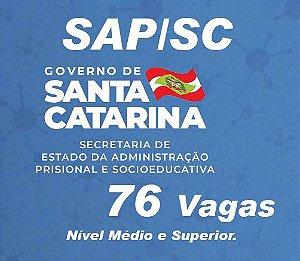 CURSO INTENSIVO  SAP/SC - Secretaria de Administração Prisional - Técnico Administrativo - Nível Médio (( Processo Seletivo 2021))