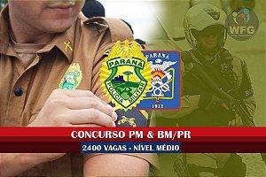CURSO ONLINE RETA FINAL  - POLÍCIA MILITAR E BOMBEIROS DO PARANÁ - 2400 VAGAS NÍVEL MÉDIO - (( PROMOÇÃO DE VOLTA PARA OS ESTUDOS))!  ))