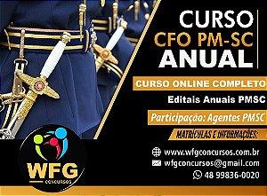 CURSO ONLINE ANUAL  PRÉ E PÓS-EDITAL - CFO PM-SC 2021/22 - Participação Agentes e Oficiais da PMSC (( PROMOÇÃO BUMERANG! ))