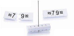 Kit de Preços para Jóias (340 Peças) - Branco com Preto