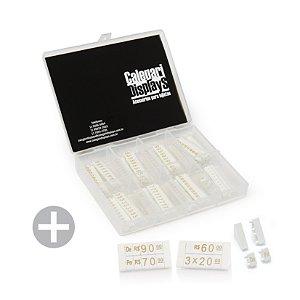 Kit de Preços para Jóias (380 Peças) - Branco com Dourado