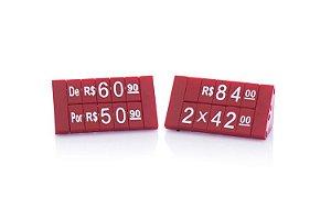 Kit de Preços para Jóias 380 Peças (Vermelho com Branco)