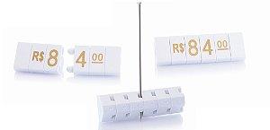 Kit de Preços para Jóias (340 Peças) - Branco com Dourado