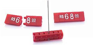 Kit de Preços para Jóias 340 Peças (Vermelho com Branco)