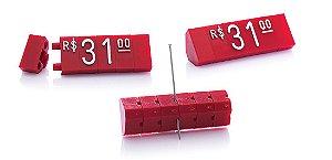 Kit de Preços (255 Peças) - Vermelho com Branco