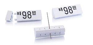 Kit de Preços (255 Peças) - Branco com Preto